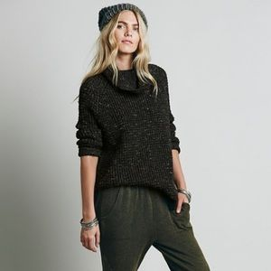 Free People Dylan Tweedy Knit Long Sleeve Sweater